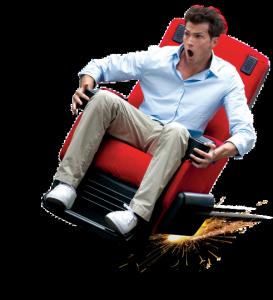 4DX homme siège rouge sensation