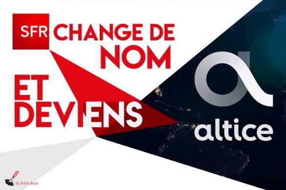SFR Altice changement nom deviens nouveau logo signification explication pourquoi