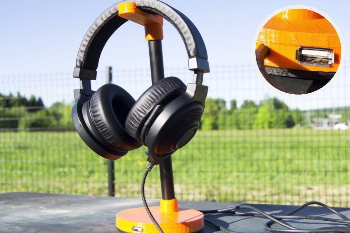 Fabriquer votre propre support de casque avec hub usb !