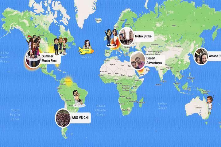 Snapchat annonce une nouvelle fonction : SnapMap