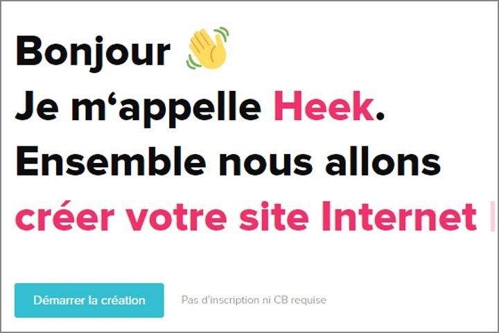 Heek, le bot qui vous créé votre site web !