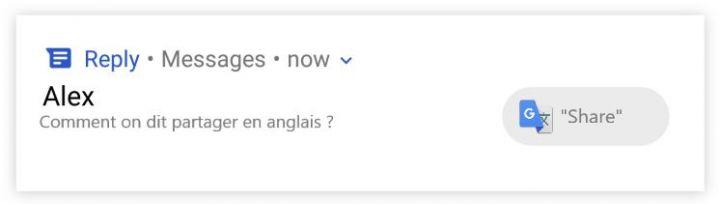 Exemple d'utilisation de Google Reply n°2