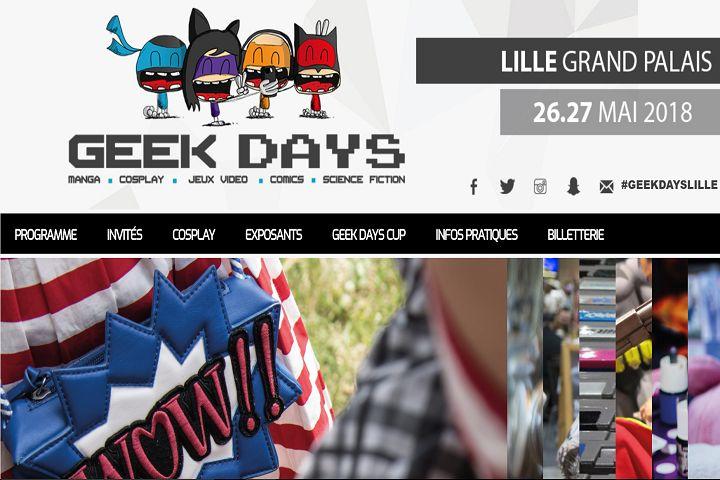 Venez aux Geek Days Lille au Grand Palais !