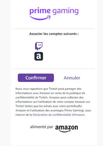 Associer son compte Amazon à son compte Twitch