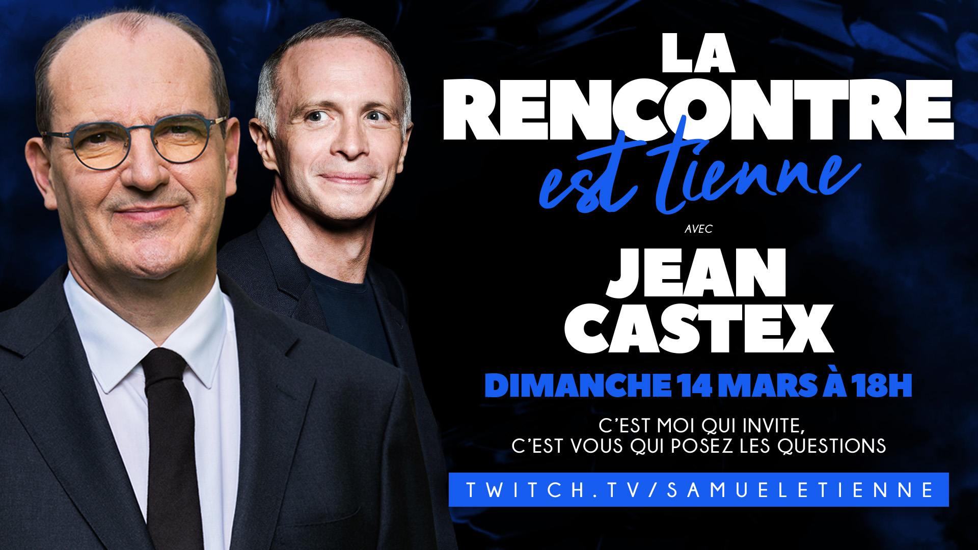Jean Castex interviewé par Samuel Etienne sur Twitch à 18 heures