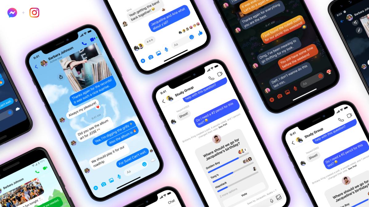 Facebook ajoute les conversations entre Messenger et Instagram