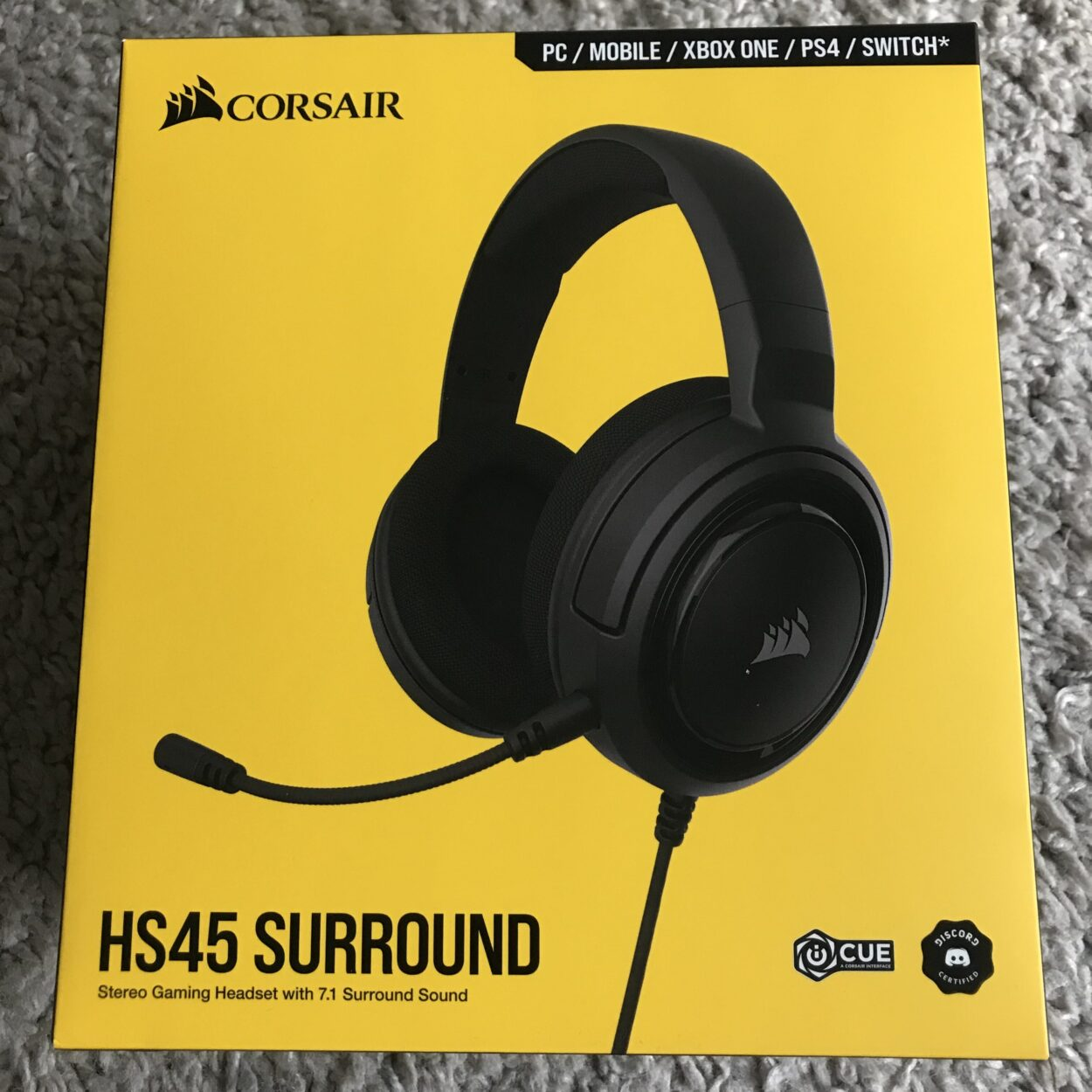Corsair HS 45 packaging