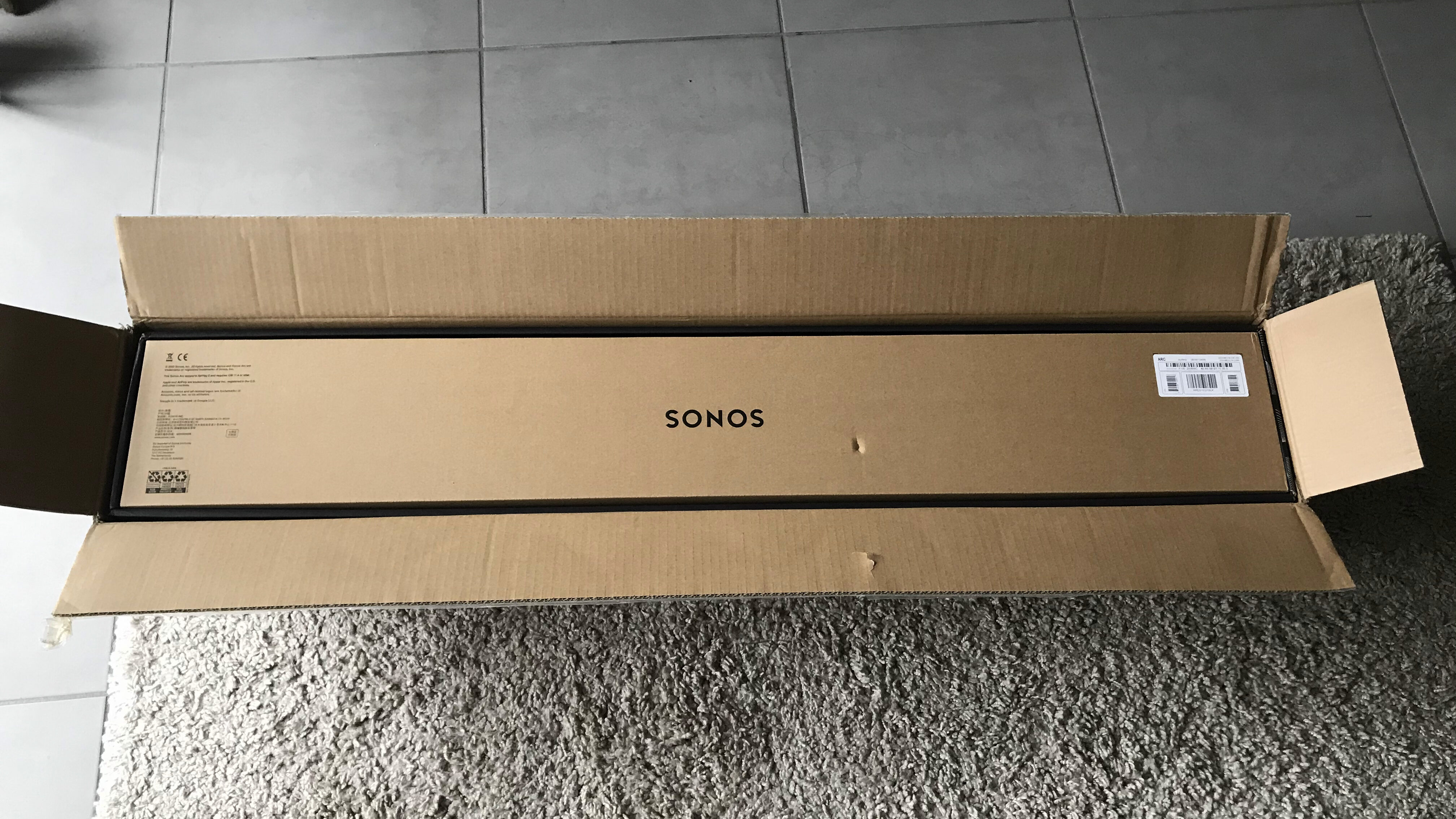 Sonos Arc barre de son packaging