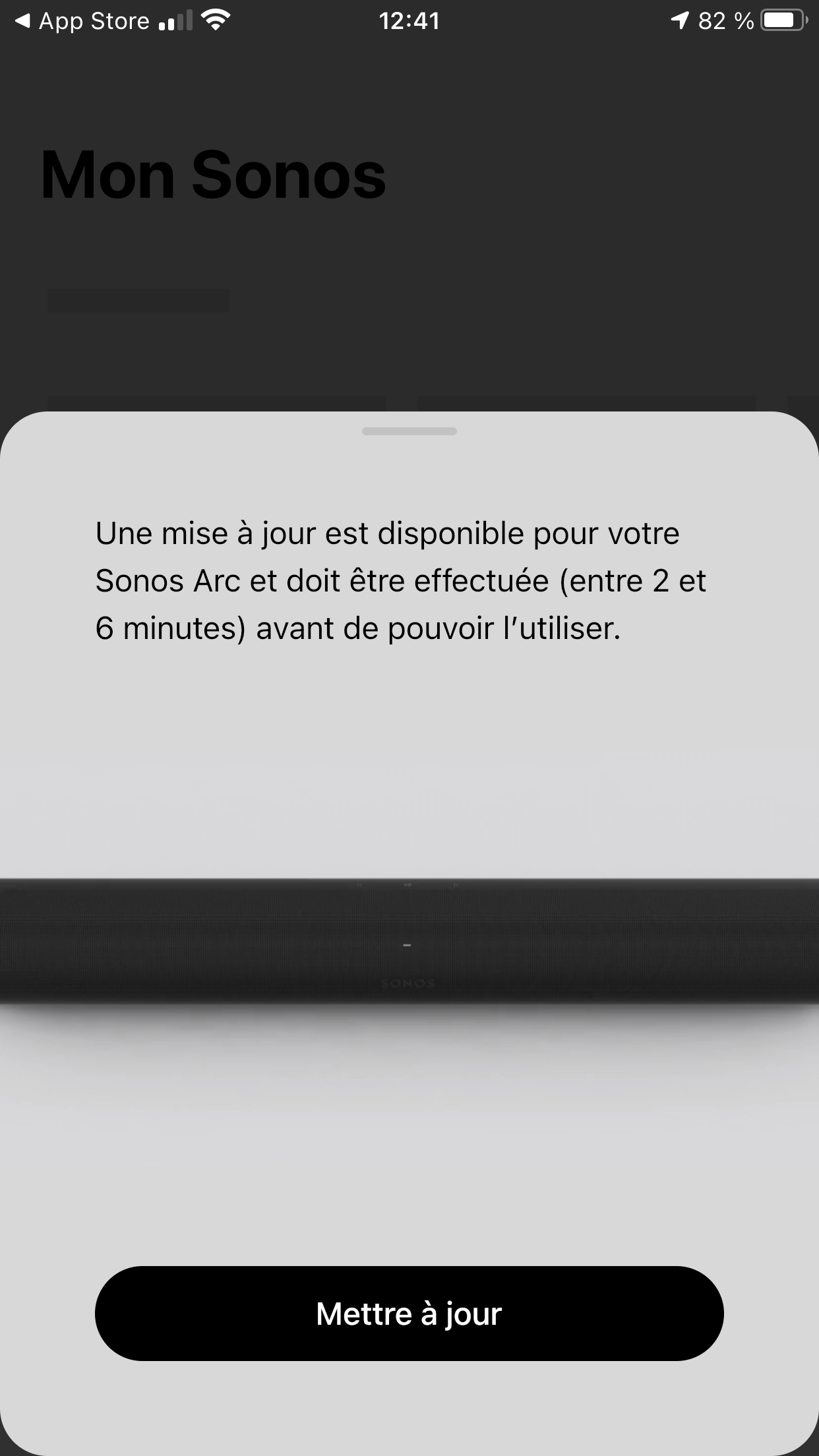Sonos Arc barre de son configuration