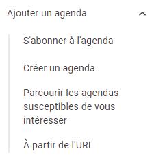 ade google agenda