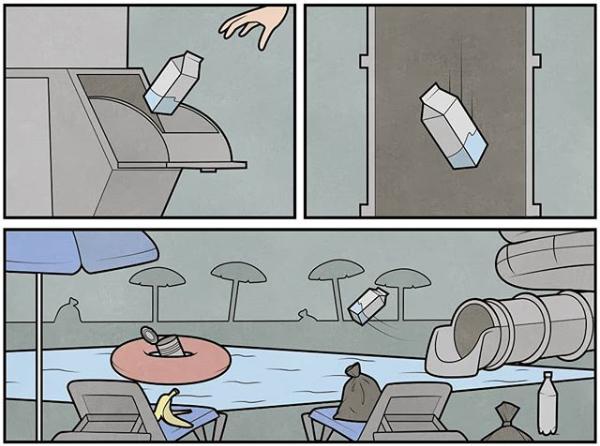 déchets piscine