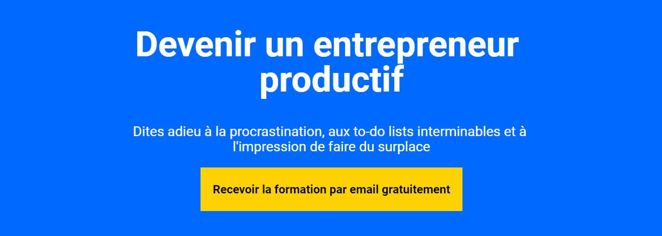 devenir un entrepreneur productif