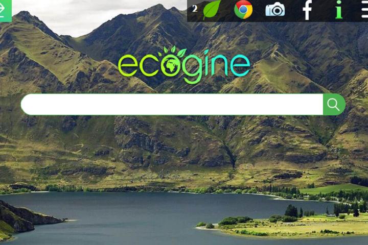 Ecogine, moteur de recherche français et écolo !