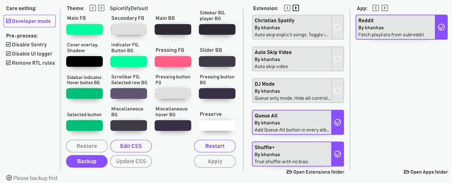 Modifier le design de Spotify