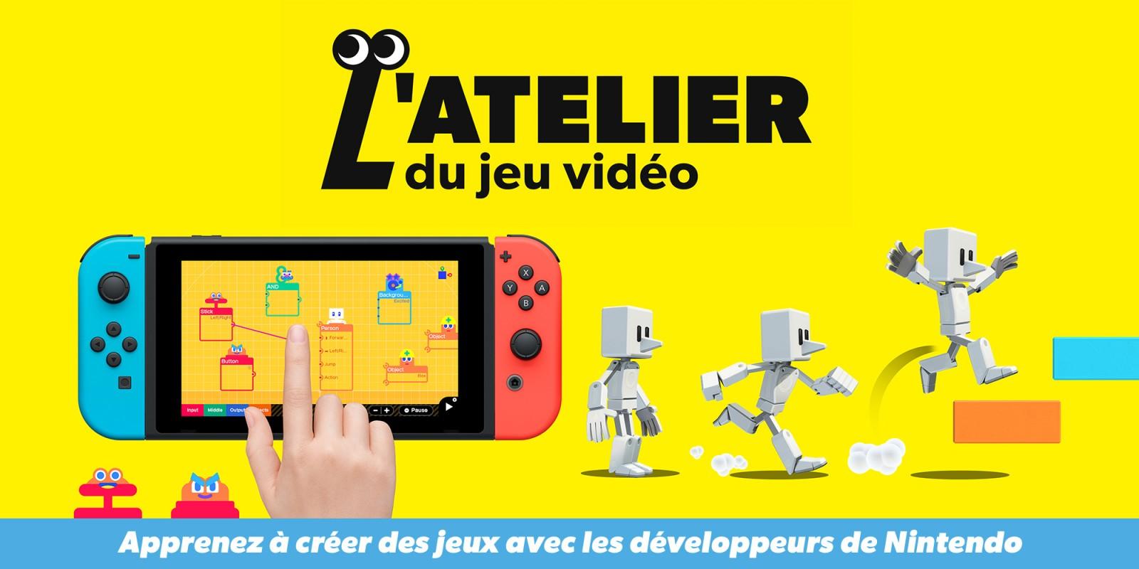 l'atelier du jeu vidéo