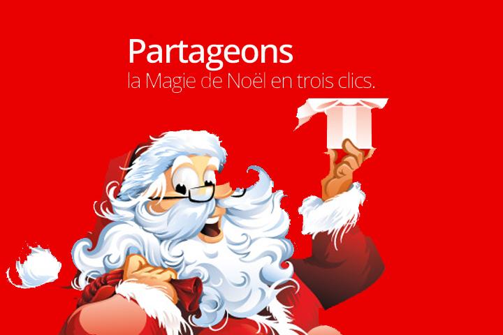 Noël Magique : 1 clic = 1€ reversé aux enfants hospitalisés !