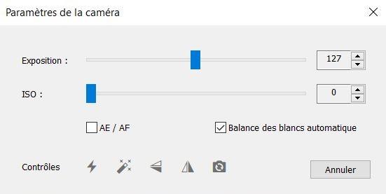 paramètres photo ivcam