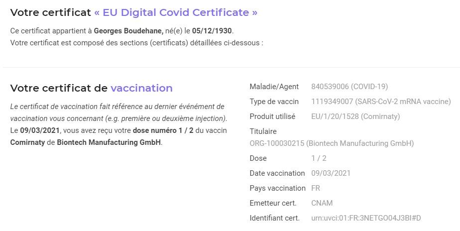 qr code pass sanitaire