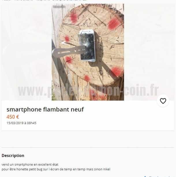 annonce smartphone