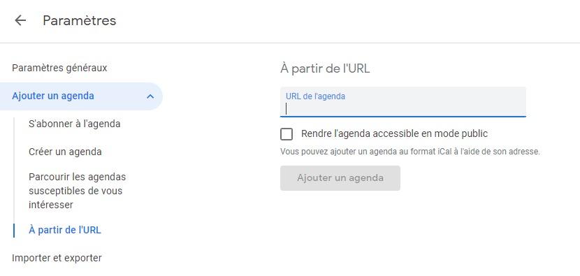 hyperplanning google agenda