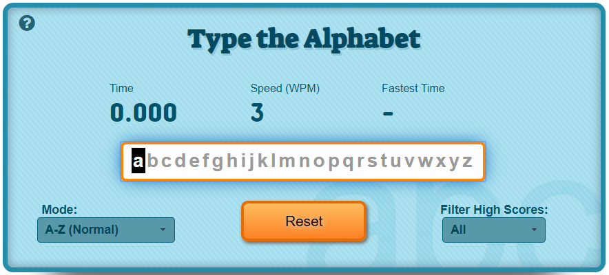 taper l'alphabet