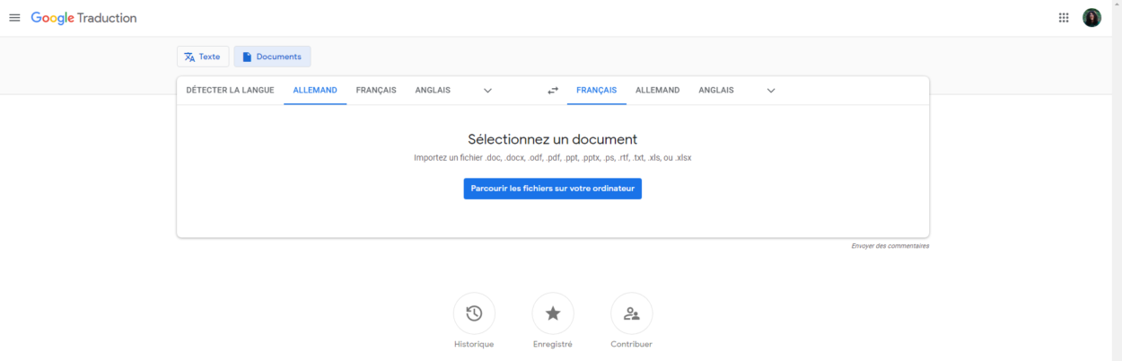 traduire un document
