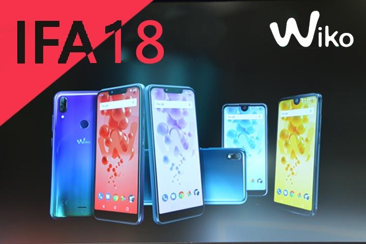 IFA 2018 : trois nouveaux smartphones chez Wiko !