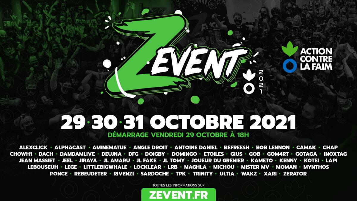 Le Z Event 2021, c'est du 29 au 31 octobre pour Action contre la Faim !